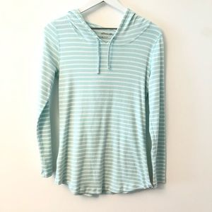 Eddie Bauer Outdoor Striped Hooded Top Small